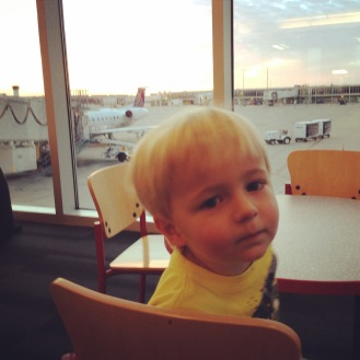 Loved airports...as you can tell by the expression.